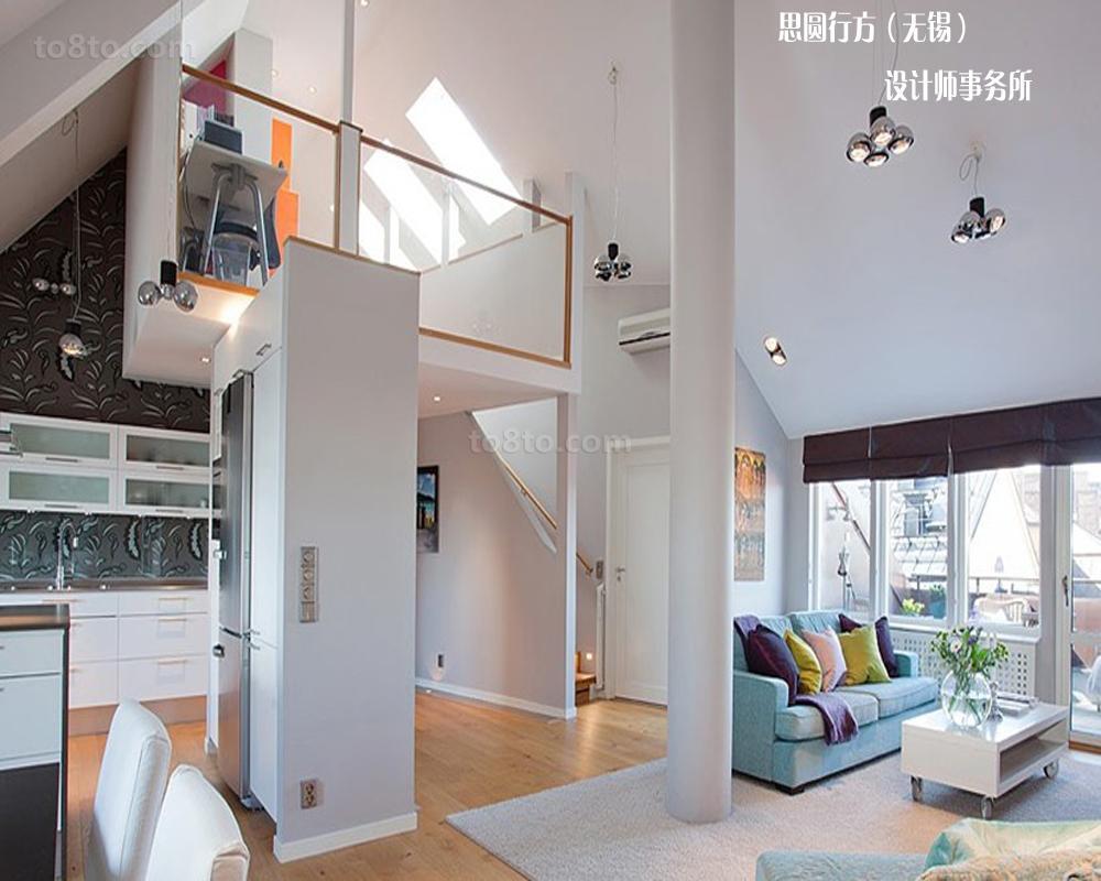 时尚简约loft公寓装修效果图