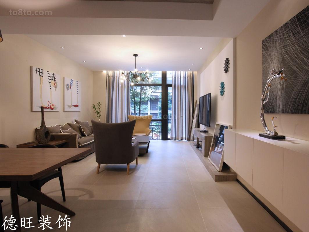 简约复式楼客厅装修效果图大全