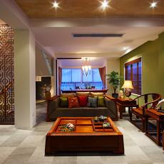 71平米中式小户型客厅装修设计效果图片欣赏