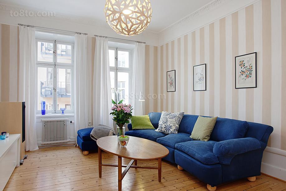 201878平米欧式小户型客厅装修实景图