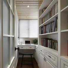 面积91平欧式三居书房装修设计效果图片大全