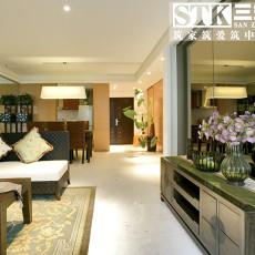 88平米中式小户型客厅装修设计效果图片大全