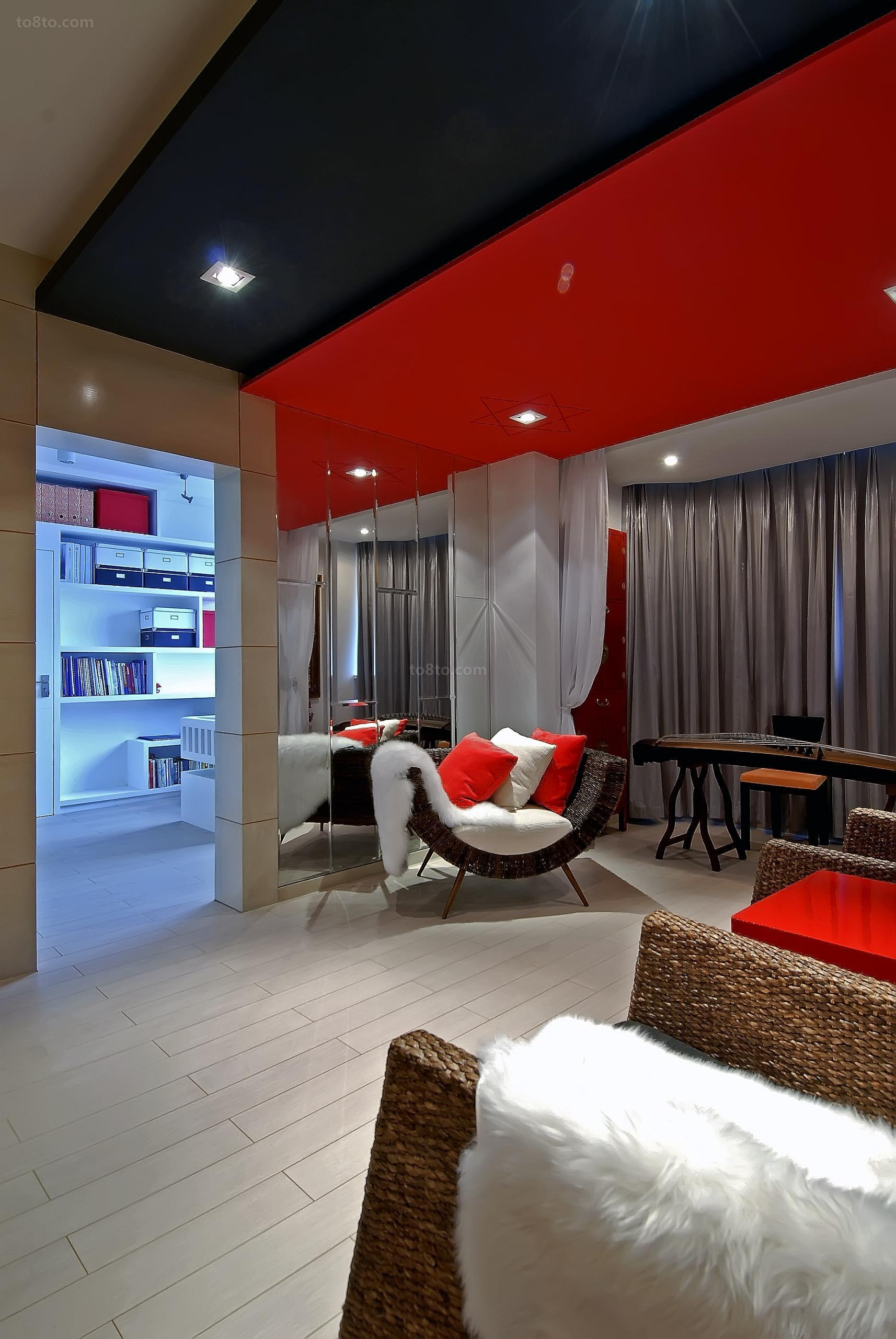 现代一居客厅装修设计效果图