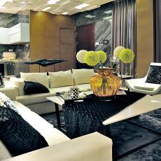 精选91平米三居客厅现代装饰图片大全