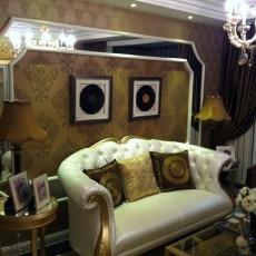 精美76平米欧式小户型客厅装修实景图片