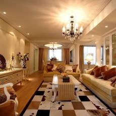 面积107平欧式三居客厅装饰图