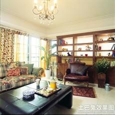 87平方二居客厅美式实景图片欣赏