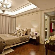2018107平米三居卧室现代设计效果图