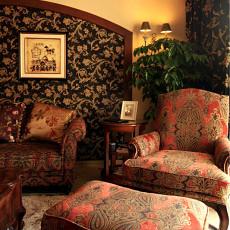 美式客厅单人沙发效果图