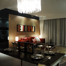 现代风格客厅餐厅一体装修效果图片