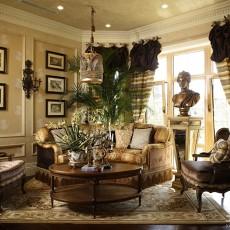 热门面积130平别墅客厅欧式装修欣赏图