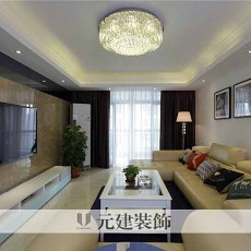 103平米三居客厅现代效果图片大全