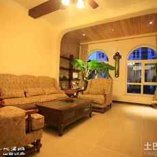 精选110平米美式复式客厅装饰图片欣赏