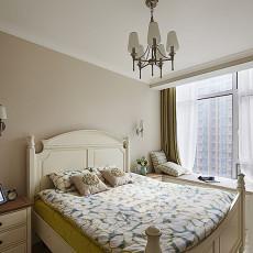 地中海风格卧室飘窗装修效果图大全