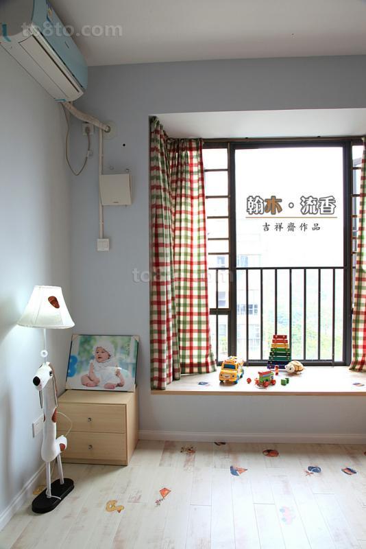 简约儿童房飘窗装修效果图