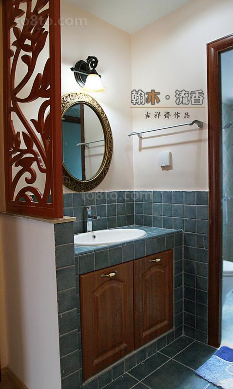 中式洗手间装修效果图