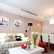 现代风格婚房客厅沙发背景墙挂画效果图