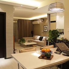 现代风格餐厅客厅一体装修效果图