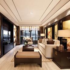 中式风格三室两厅客厅装修效果图