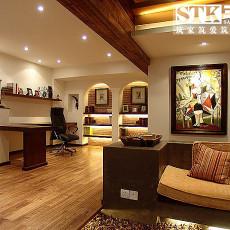 美式风格客厅挂画效果图