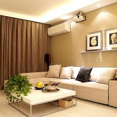 热门面积83平小户型客厅现代装修效果图片