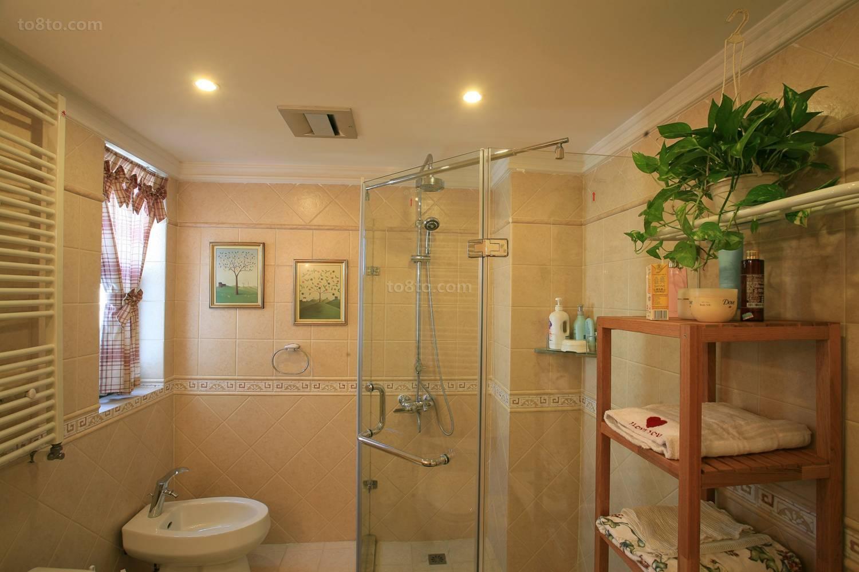 欧式田园卫生间淋浴房隔断装修效果图