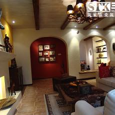 美式风格客厅装饰壁炉装修效果图