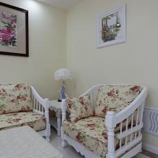 欧式田园风格客厅单人沙发装修效果图