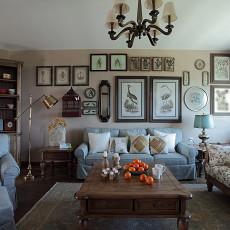 精选面积72平美式二居客厅装修设计效果图片