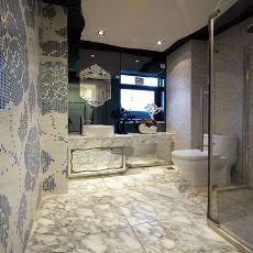 欧式风格卫生间墙镜效果图