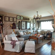 美式风格客厅木地板效果图