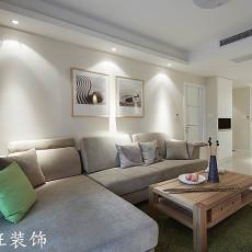 现代简约风格客厅沙发背景墙挂画效果图