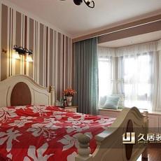 欧式风格卧室条纹壁纸装修效果图大全