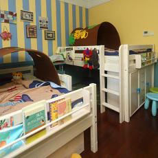 美式风格双人儿童房装修效果图