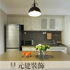 美式风格开放式厨房装修设计