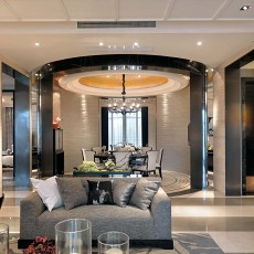 精美87平米二居客厅现代实景图