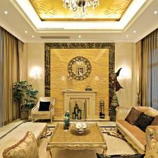 面积100平欧式三居客厅效果图