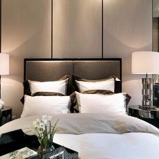现代港式卧室背景墙装修效果图