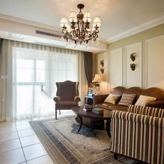 美式风格客厅沙发背景墙装修效果图大全