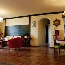 热门面积75平美式二居客厅装修实景图片欣赏
