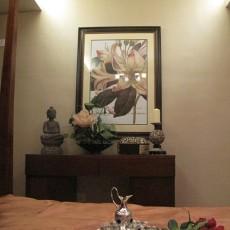 东南亚风格卧室挂画效果图