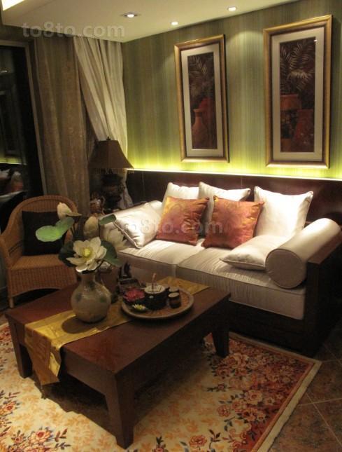 东南亚风格客厅茶几效果图