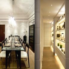 现代风格长方形餐厅装修效果图大全