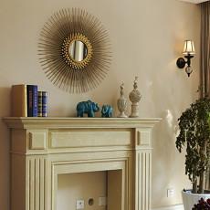 美式田园风格客厅装饰壁炉装修效果图