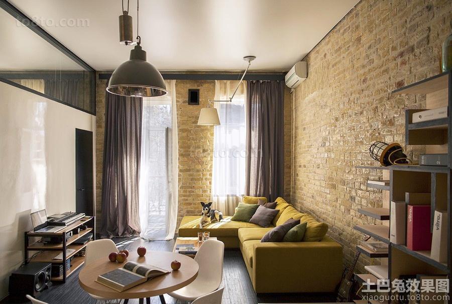 客厅仿古砖背景墙效果图片