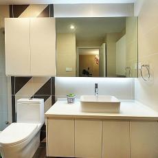 现代简约风格卫生间浴室柜装修效果图