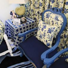 田园地中海风格客厅边椅效果图