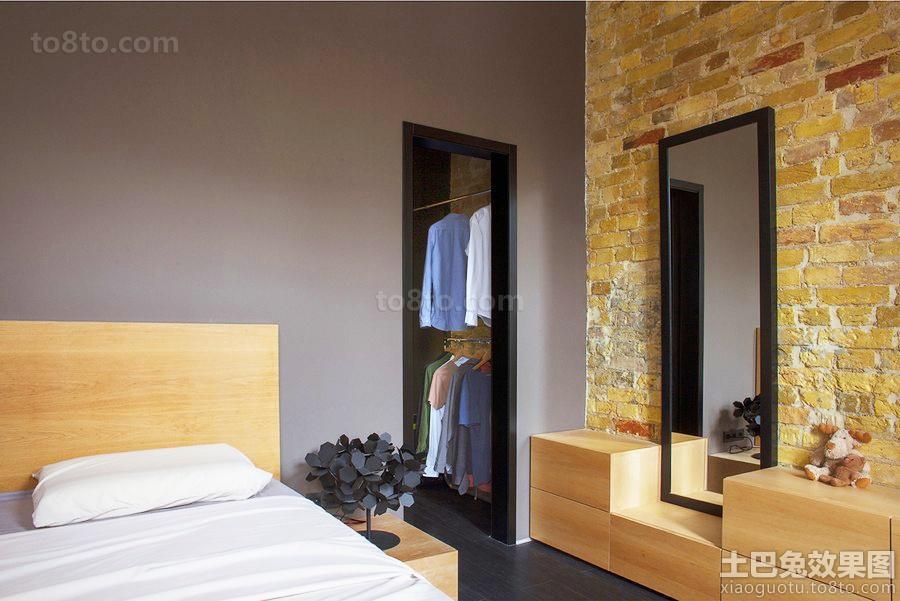 卧室仿古砖背景墙装修效果图大全