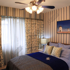 田园地中海风格卧室装修效果图
