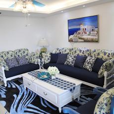 2018精选117平米地中海复式客厅装饰图